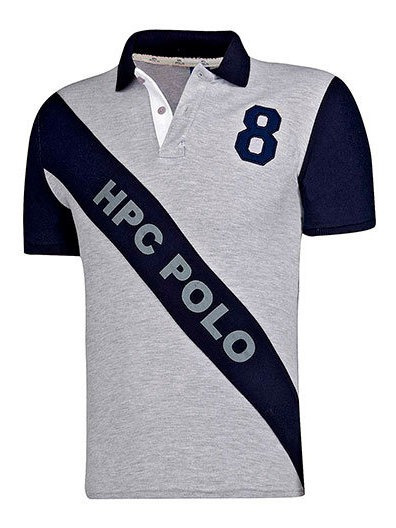 Playera Hombre Pk 89031 Polo Hpc Gris