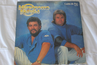 Lp - Mato Grosso E Mathias- Canto De Paz Vol. 10 - 1986
