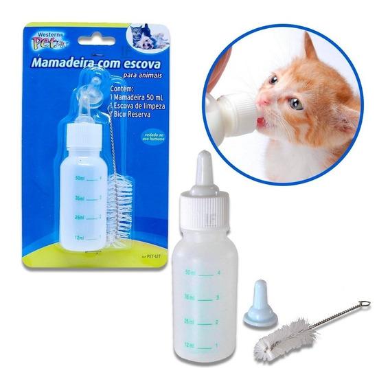 Mamadeira 50ml Para Cães E Gatos Filhotes + Acessorios