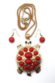 58f9eab0f2b9 Bisuteria Collar Rojo - Collares y Cadenas en Mercado Libre México
