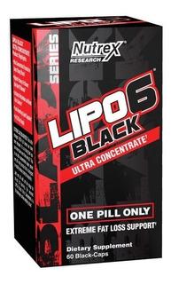 Lipo 6 Black Ultra Concentrado Nutrex Quemador Grasa + Envío