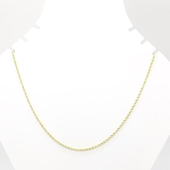 Corrente 0090 Cordão Baiano 50 Cm Folheado Banhado Ouro 18k
