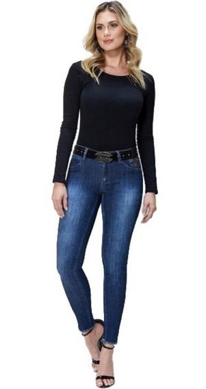 Calça Feminina Caccau Jeans Com Lycra + Cinto Grátis Cau2316