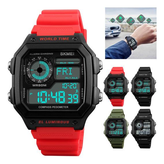 Relógio Esportivo Digital 50m À Prova D