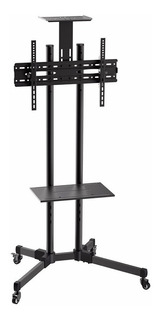 Soporte De Tv 37 A 73 Tipo Pedestal Con Ruedas + Soporte Fij