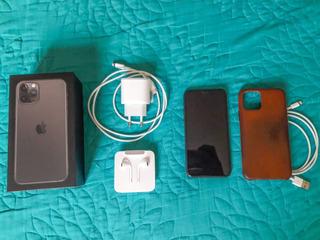 iPhone 11 Pro 256gb + Case De Couro, Cabo Usb E Película