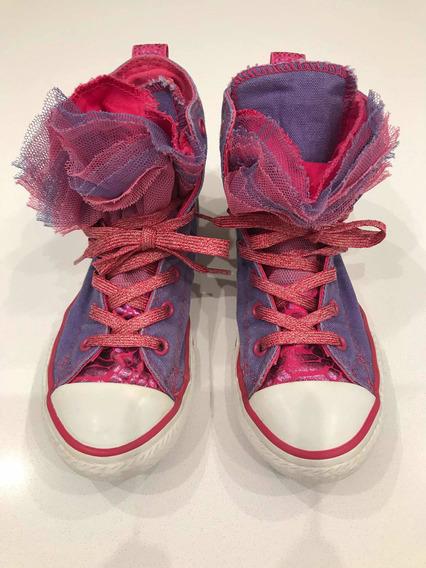 Zapatillas Converse All Star Nenas Tul/brillos Talle 32 Usa