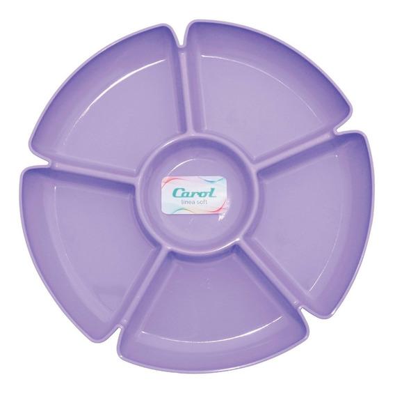 Copetinero Plástico Con 6 Divisores Carol Picadas + Cuotas