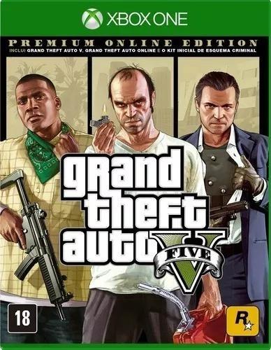 Gta V Premium Online Edition Xbox One Mídia Física Xone X