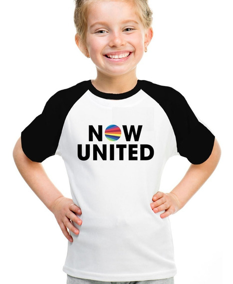 Camiseta Infantil Now United Raglan Personalizada Sabina Any