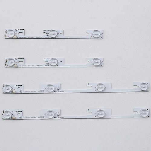 Imagem 1 de 1 de Kit 4 Barras Semp 32l2400 Dl3244 Dl3253 Dl3245i Nova Origina