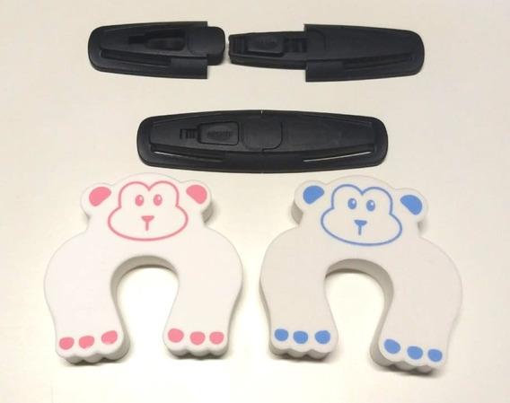 Kit Trava Cinto Segurança 02 Salva Dedos Bichinhos Criança .