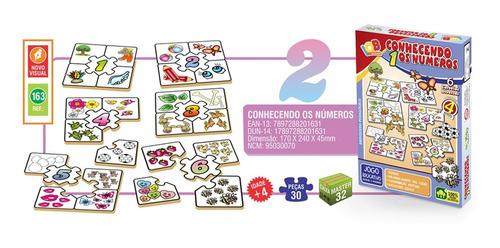 Jogo Pedagógico P Crianças Conhecer Os Números 5 Cartelas
