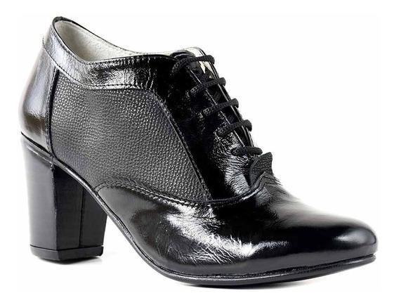 Zapato Mujer Cuero Cerrado Briganti Bota Botineta Mccz33045