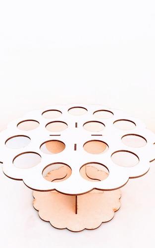 Imagen 1 de 6 de Porta Conos Mesa Dulce - 14 Conos - Mdf / Fibrofacil
