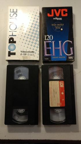 Lote De 4 Video Cassettes Vhs
