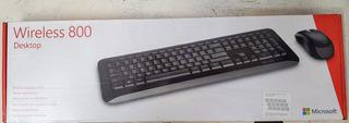 Teclado + Mouse Sem Fio Microsoft Wireless Desktop 800