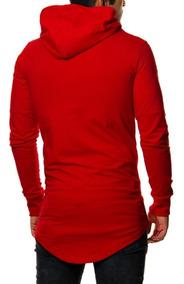 Blusa Masculina Oversize Swag Longline Blusa De Frio Moletom