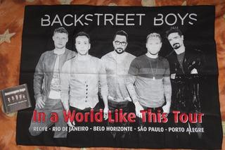 Bandeira Backstreet Boys 100% Polyester *ñ Cd Dna Dvd Nick