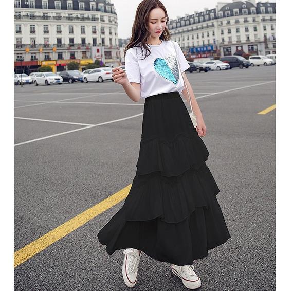 Mulheres 2 Peça Outfits Definir , Saia Sets Com Sólido Cur