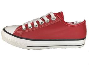 b27b8c1f9fc Tênis All Star Converse Em Couro Vermelho - Calçados