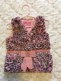 Colete Infantil De Pelinhos Rosa Animal Print