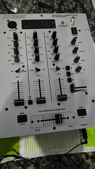 Mixer Behringer Dx626 + Hed Fone Sony