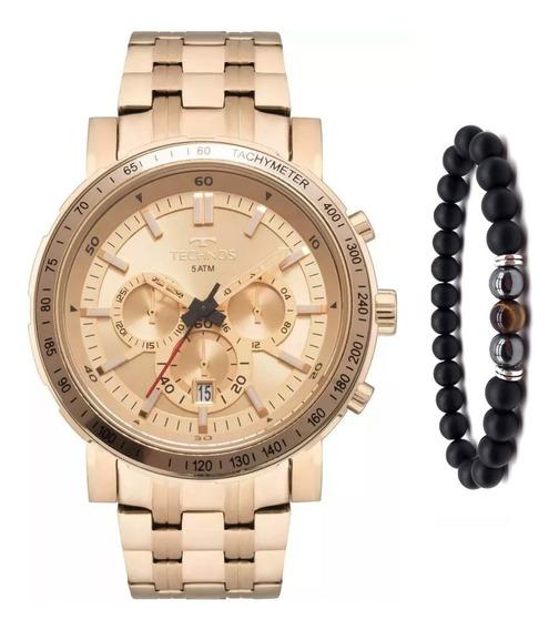 Relógio Technos Masculino Skymaster Js26ak/4x + Pulseira