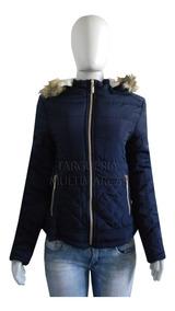 Blusa De Frio Feminina Jaqueta Nylon Forrada Capuz Pelos F52