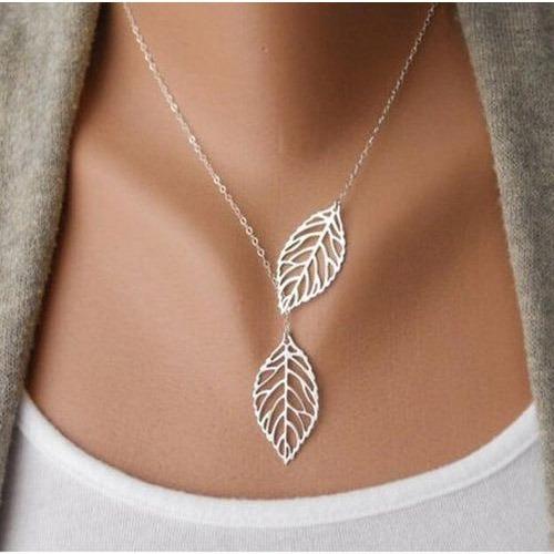 Collar De Hojas Dama Trendy Fashion Casual De Alta Calidad