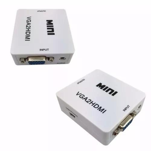 Conversor Adaptador Vga P/ Hdmi Com Saida De Audio Cabo P2
