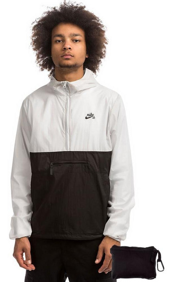 Jaqueta Corta Vento Nike Sb Anorak Preto E Branco Original