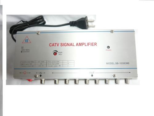 Amplificador De Señal Catv  Con 8  Salidas