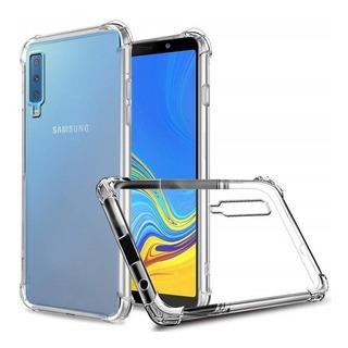 Capa Anti Shock + Pelicula De Vidro 3d Samsung A7 2018 A750