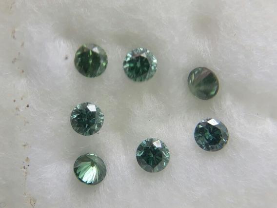 Lote De Diamantes Verdes Naturais Vvs 0,25 Ct L4