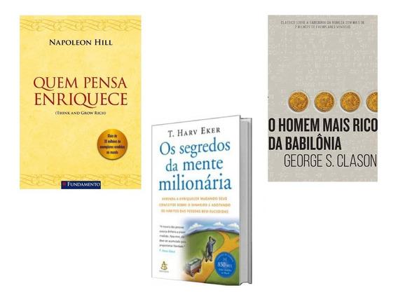Homem Rico Babilônia+pense E Enriqueça+mentes Milionária