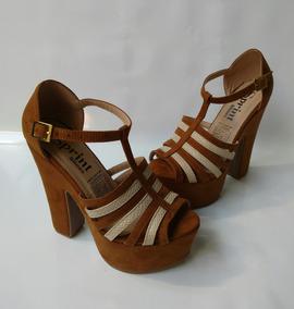 349f4d44572 Zapato Tacon Alto Color Marron Miel Sandalia Envio Gratis