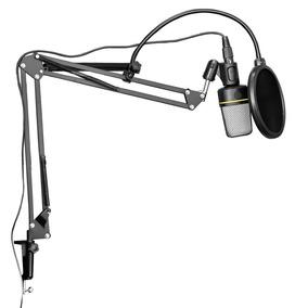 Microfone Estúdio Sf920 + Pop Filter + Braço Articulado