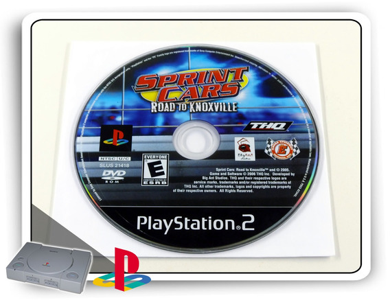 Sprint Cars Road To Knoxville Original Playstation 2 Ps2