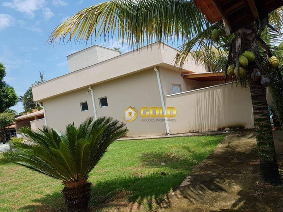 Chácara Com 4 Dormitórios À Venda, 1000 M² Por R$ 950.000 - Parque Da Represa - Paulínia/sp - Ch0055