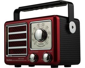 Radio Am Fm Portatil Com Bluetooth Retro Bateria Interna Usb
