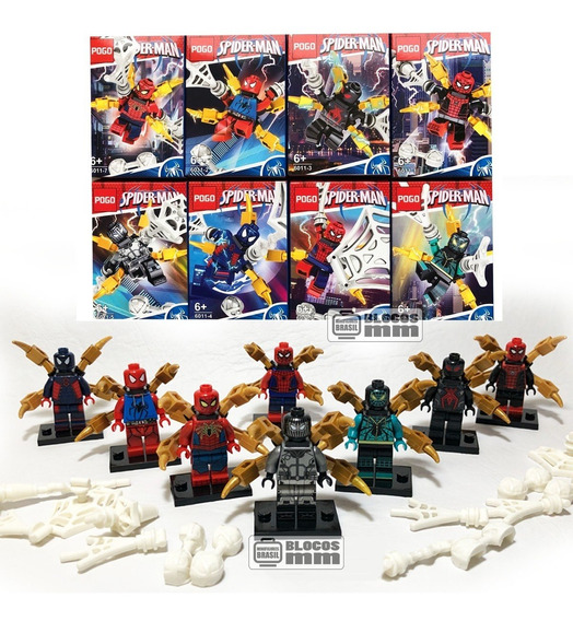 Boneco Homem Aranha Kit De Uniforme Ps4 Spider Man Blocos
