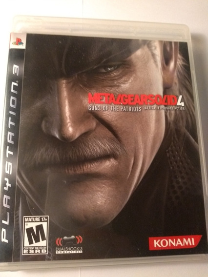 Metal Gear Solid 4 Ps3 Mídia Física Original Pronta Entrega