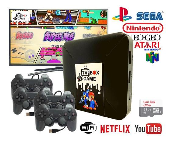 Video Game Retrô 12000 Jogos Antigos C/ 4 Controles Play2
