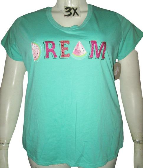 Blusa Verde De Pijama Dream Talla 3x (42/44 Mex)