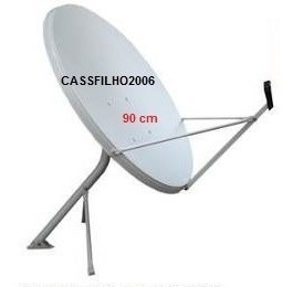 Kit Antena Ku 90cm(lnb Simples+20m Cabos+2 Conectores)