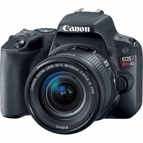 Camera Canon Eos Rebel Sl2 Com 18-55mm Com 2 Anos De Garantia + Nfe
