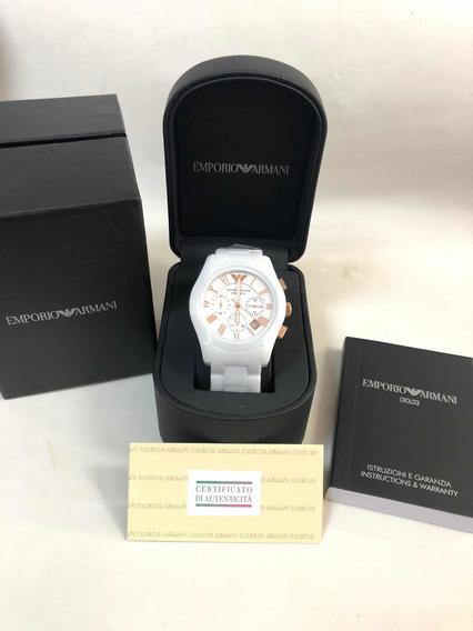 Relógio Emporio Armani Ar1416 Cerâmica Com Caixa E Garantia