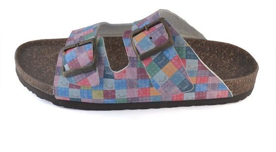 Sandalias Birken Estampado Suela De Corcho Small Shoes