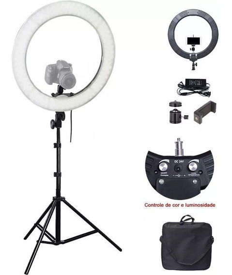 Iluminador Led Ring Light 18 80w 48cm 448 Leds + Tripe 2 M